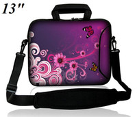 Wholesale Colorful quot quot Laptop Shoulder Bag External Pocket for Adapter Mouse amp Zipper Closure Flowers Printed on Front and Back Sides