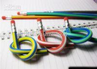 Wholesale 1000pcs New Deformable Colorful Magic Flexible Bendy Soft Pencil Multi colors Plastic
