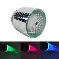 Wholesale 10pcs Water Glow Shower LED Faucet Light Temperature Sensor Three Color Temperature Control RC F1101