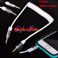audio tables - 3 MM AUX Audio Flex Stretching Cable Car Stereo Wire Adapter Male to Male For Car Cellphone iphone ipad ipod table speaker