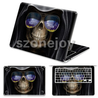 Wholesale Unique skeleton human design for macbook air skin stickers inch vinyl PVC skins for Apple laptop protector skins for Macbook pro