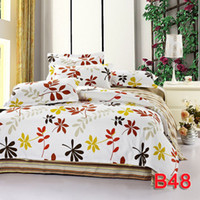 Wholesale Queen single bed small double bed kids bedding set cotton fabric doona duvet cover sheets pillowcases floral print bedcover bed Linen sets