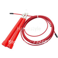 Wholesale Dropshipping M Steel Wire Rope Skipping Skip Adjustable Jump Rope Crossfit Red TK0776