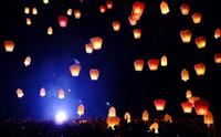 Sky Lantern Holiday Yes 2014 Romantic Love Chinese Sky Lanterns with Fuel Paper Kongming Flying Wishing Lamp For Wedding Party Balloons & Lights(8pcs) Free shipping
