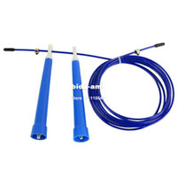 Wholesale 7pcs Hot Sale Blue M Durable Steel Wire Rope Skip Skipping Rope Adjustable Jump Rope Crossfit TK1048 WY
