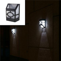Wholesale European personality waterproof LED luz Solar energy powered panel super bright outdoor wall lamp solaris garden lantern lights amp lighting