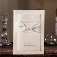 Wholesale Unique White Free Personalized amp Customized Printing Wedding Invitations Cards with Embossed Flower