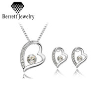 Bracelet,Earrings & Necklace Celtic Gift 2014 Hot Selling Heart Jewelry Sets Mix Items And Colors Crystal Silver Plated Pendant Necklace For Woman