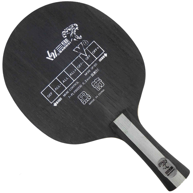 Sanwei v6 black arrow v 6 v 6 table tennis ping pong blade shakenand table tennis blade table for Table tennis 6 0
