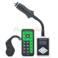 Wholesale 1 quot LCD Car MP3 Player FM Transmitter w Remote Controller USB SD TF Driver Reminder DC V