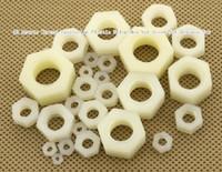 Wholesale 100pcs M3 Metric Thread Insulation Plastic Nylon Hex Nut Screw Nut Hexagon Nut