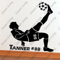Wholesale And Retail mm mm Perfect Footballer New Home Garden Home Decoration Vinyl Art Mural Wall Sticker Decals GLZ