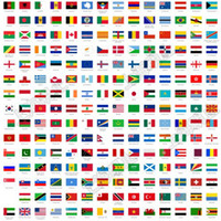 Wholesale World Cup National flag stickers national flag face sticker nations