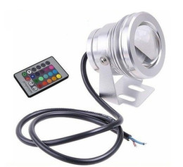 Wholesale NEW Arrival Aluminum Adjustable RGB LED Underwater Light LED W V Aquarium Fountain Pool Light IP68 Waterproof With Remote Controller