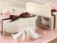 Wholesale Set Newest wedding favor Love Birds Salt and Pepper Shaker Party favors for wedding gift