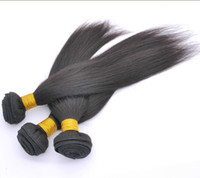 Wholesale Trade A Mix inches European Virgin Human Weave Hair Weft Silky Straight Natural Color Derun Hair Extensions