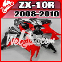 Wholesale Welmotocom ABS Fairing For Kawasaki ZX R ZX10R ZX R Black Red K18W21 Free Gifts
