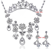 Wholesale 2014 New Concise Elegant Sparking Shine Diamond Crystal Wedding Accessory A Suit of Bridal Jewelry Bridal Hair Accessory