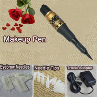 adjustable tattoo machines for sale - Top makeup tattoo machine permanent high quality makeup pen eyebrow pen makeup needles for makeup tattoo kit sets hot sale