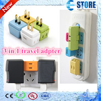 Wholesale Newest in AC power travel adapter charger fit for small power electrical appliance colors wu