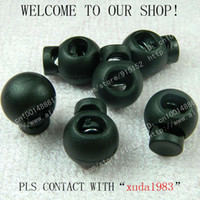 Buttons cord stoppers - holes nylon spring cord lock spring stopper cord stopper garment bag accessories