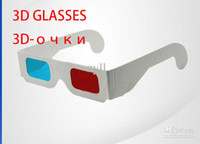 Wholesale Wholesale paper d glasses d glasses Red and blue glasses