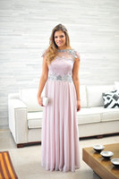 Reference Images Crew Chiffon LK Top Glamorous 2014 Beads Cap Sleeves Vestidos De Fiesta Chiffon Full Length Appliqued Sheer Lace Illusion Back Sexy Evening Prom Dresses