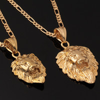 Wholesale Lion Head Necklaces Gift For Men Sizes Options K Real Gold Plated Exquisite New Design Necklaces amp Pendants Men Jewelry P333
