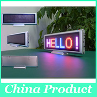 Wholesale 2014 LED scrolling moving display board Red SMD desk panel advertising programmable rechargable support most EURO language