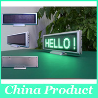 led moving message - Hot LED scrolling message moving display board Red SMD desk panel advertising programmable rechargable support most EURO language