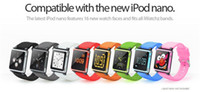 Wholesale New Arrival new iWatchz wrist watch band strap For iPod Nano mp4 player with Retail box High Quality colorful Via DHL
