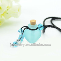Wholesale Aromatherapy Witch Wicca element perfume Alchemy bottle pendant necklace