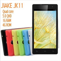 Cheap Hot Promotion New JIAKE JK11 MTK6582 Quad Core 1.3GHz 5.0 inch 960*540 1GB RAM 4GB ROM 8MP Dual Camera Android 4.2 Smartphone 3G GPS