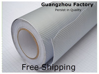 Wholesale hot sell d carbon fiber vinyl with air drain adhensive carbon sheet vinyl PVC Thickness mm Size m Silver