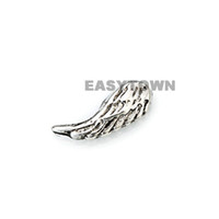 Wholesale 2014 new Design silver wings word floating charms DIY charms for necklace amp bracelets charms accessories glass Locket charms