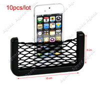 Wholesale 10pcs X8cm Net Bag Automotive with Adhesive Visor Car Organizer Pockets Net