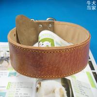 Wholesale Dog ring collar extra large pet collar genuine leather gq167 roadbeds of tibetan mastiff collar large dog leather