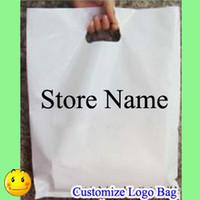 Logo personalizar las bolsas de plástico de impresión Marca marca de la etiqueta Negro Maquillaje de la manera joyería bolsas del regalo de embalaje de la ropa interior del zapato Sombrero Ropa