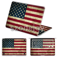 Wholesale Unique national flag design for macbook air skin stickers inch vinyl PVC skins for Apple laptop protector skins for Macbook pro
