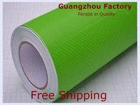 Wholesale SimCarbon D Carbon Fiber Vinyl Film Wrap Film m x30m Twill Weave Texture Apple Green