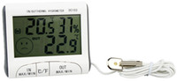 large screen display - New Indoor Outdoor Temperature Hygrometer Large Screen Display With Dual temperature Magnetic Memory Clock Thermometer DC103 Y3041B