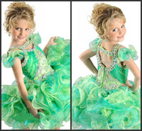 Wholesale 2014 New Little Angle s Dress Colorful Organza Ritzee Girls Cupcake Dresses Halter Crystals Tiered Ruffles Girl s Pageant Dresses