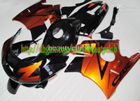 Comression Mold For Honda CBR600 F2 Wholesale - windscreen& Free custom- golden black for HONDA CBR600 91 92 93 94 CBR600F2 1991-1994 1991 1994 91-94 CBR 600 F2 fairing kit r46