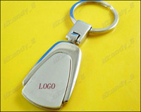 Car Key Chains   Support Mix Order Trapezoid Trapezium Metal Car Key Ring Keychain Keychains Keyring Keyrings With Good Retail Boxes