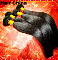 Wholesale DHL Free Fast Shipping Top AAAAA Promise Brazilian Indian Malaysian Straight Human Virgin Hair Natural Color Can Dye Can Cut