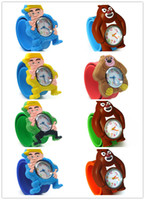 Wholesale 50pcs Boonnie Bear Slap Snap On Silicone Wrist Watch Boys Girls Children Kids Fashion Kids Watch Kitty Watch Singpore Post