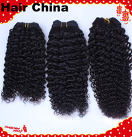 Wholesale TOP Selling A Grade quot quot Mixed Kinky Curly Human hair weft Brazilian Peruvian Virgin hair Product by DHl