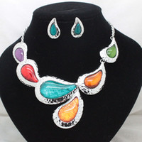 Chokers Jewelry Sets Fashion 2013new fashion party wedding colorful jewelry sets fancy costume high quality necklace and earring sets for women free shipping