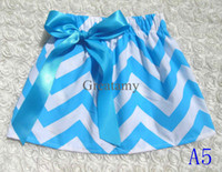 Wholesale Hot sale Chevron baby girl tutu skirt pettiskirt baby girl striped Bow skirt kids girls TUTU dresses girl prom dress baby short skirts