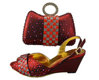 Women Pumps Summer Ladies wedding dress shoes with matching evening cluth in ORANGE, PURPLE, SILVER, RED, BLUE. wedge sandals and crystal purse.
